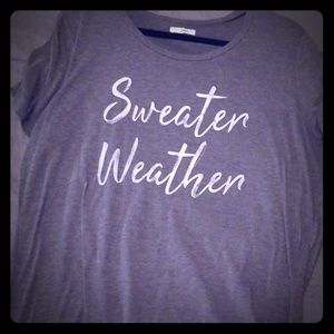 Maurices Sweater Weather T shirt
